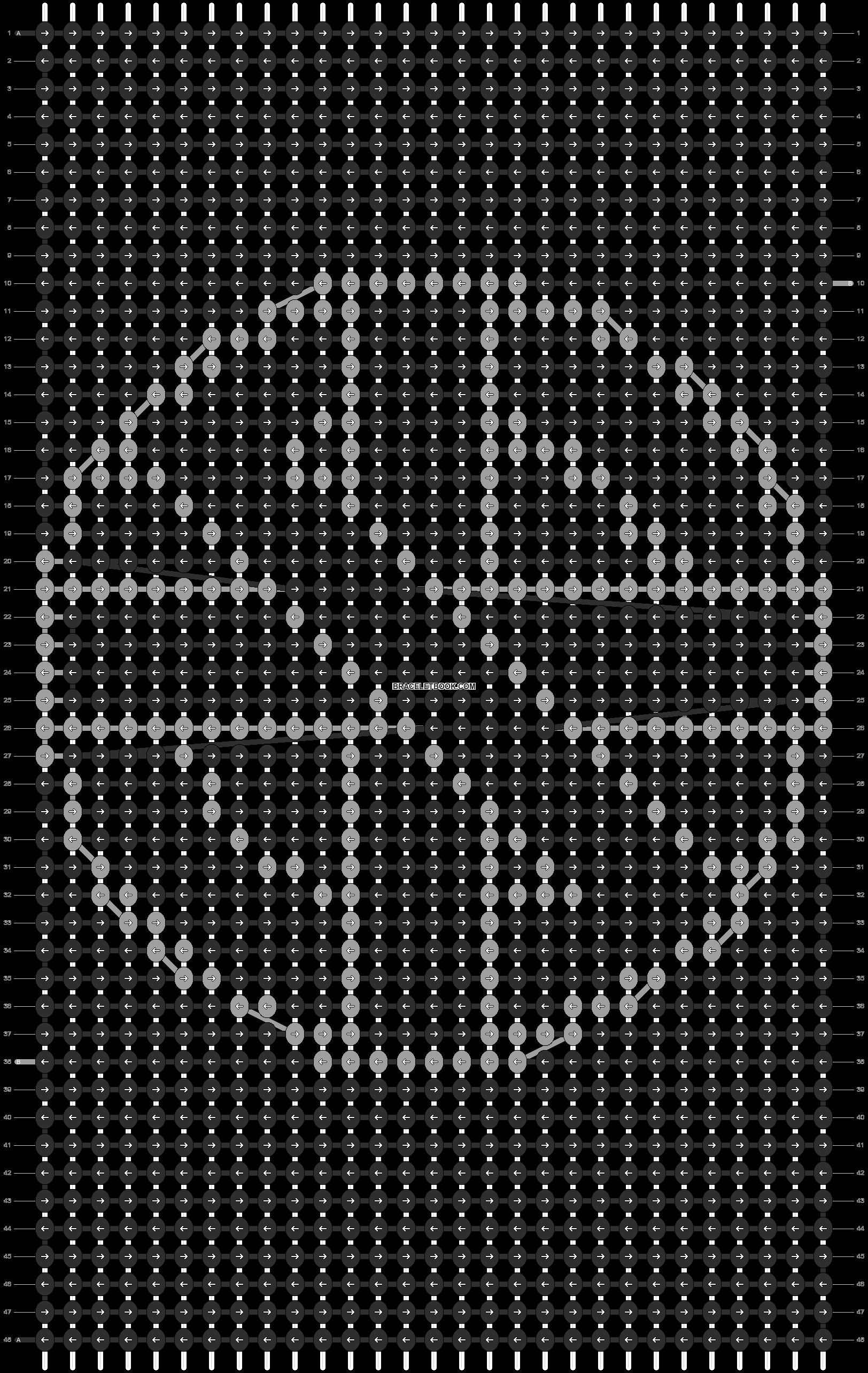 Alpha pattern #9410 pattern