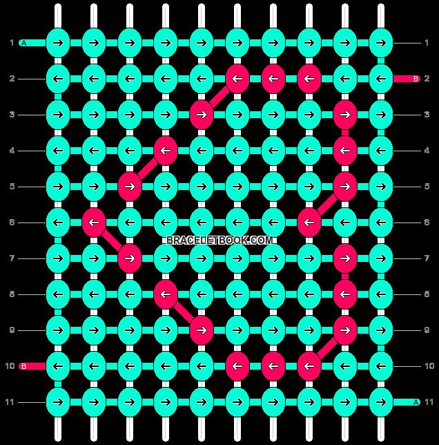 Alpha pattern #9424 pattern