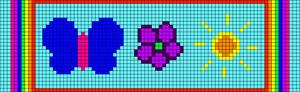 Alpha Friendship Bracelet Pattern #9436