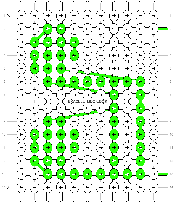 Alpha pattern #9454 pattern