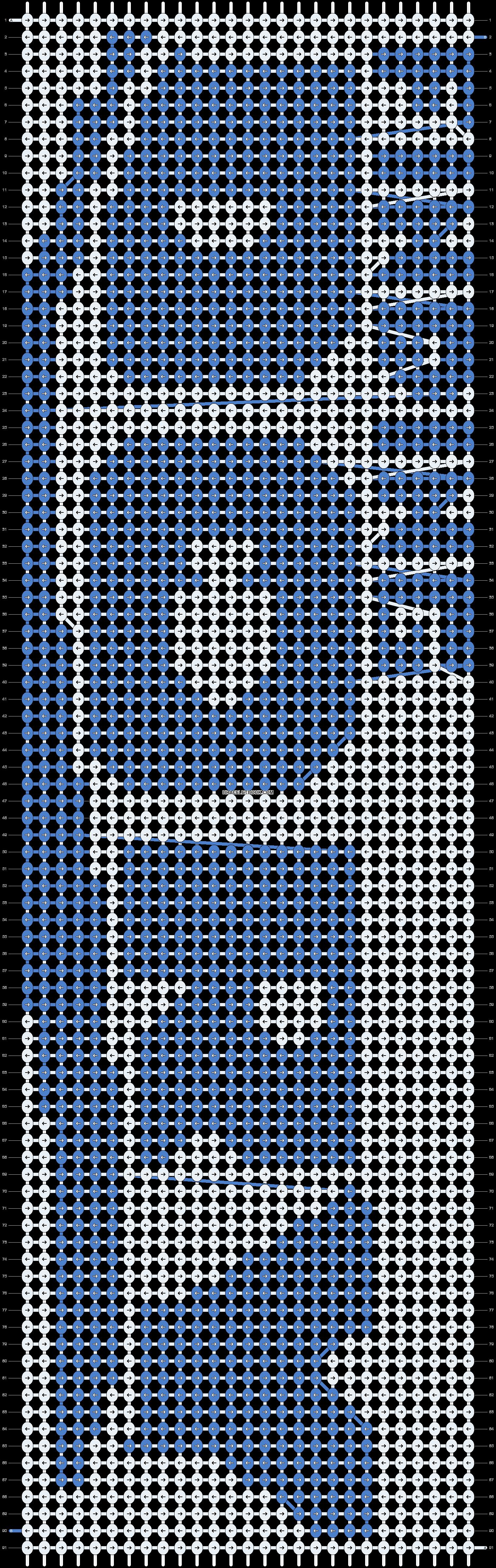 Alpha pattern #9496 pattern
