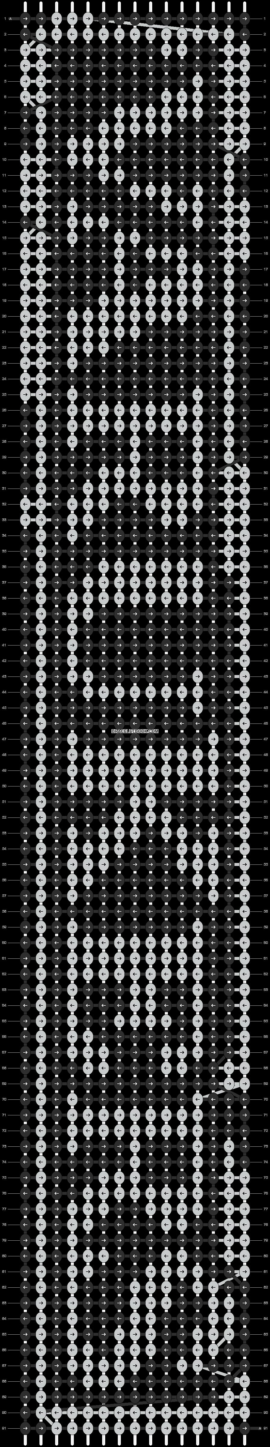 Alpha pattern #9505 pattern