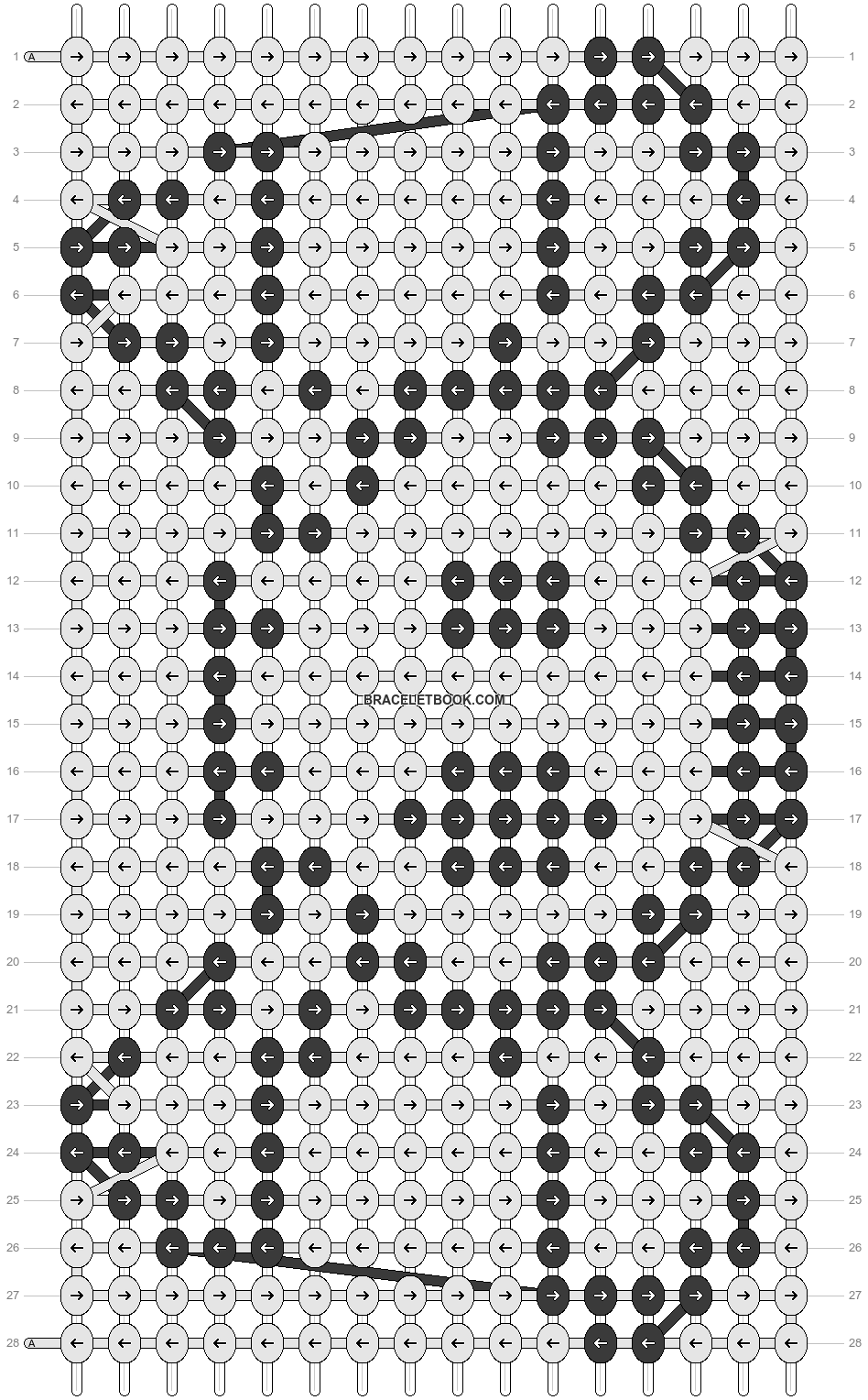 Alpha pattern #9518 pattern