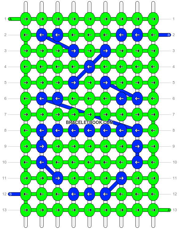 Alpha pattern #9528 pattern