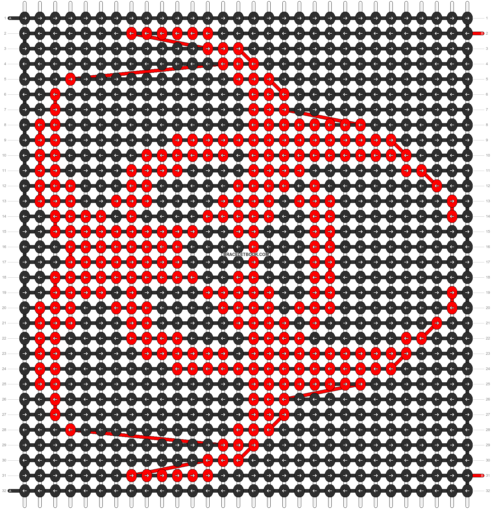 Alpha pattern #9551 pattern