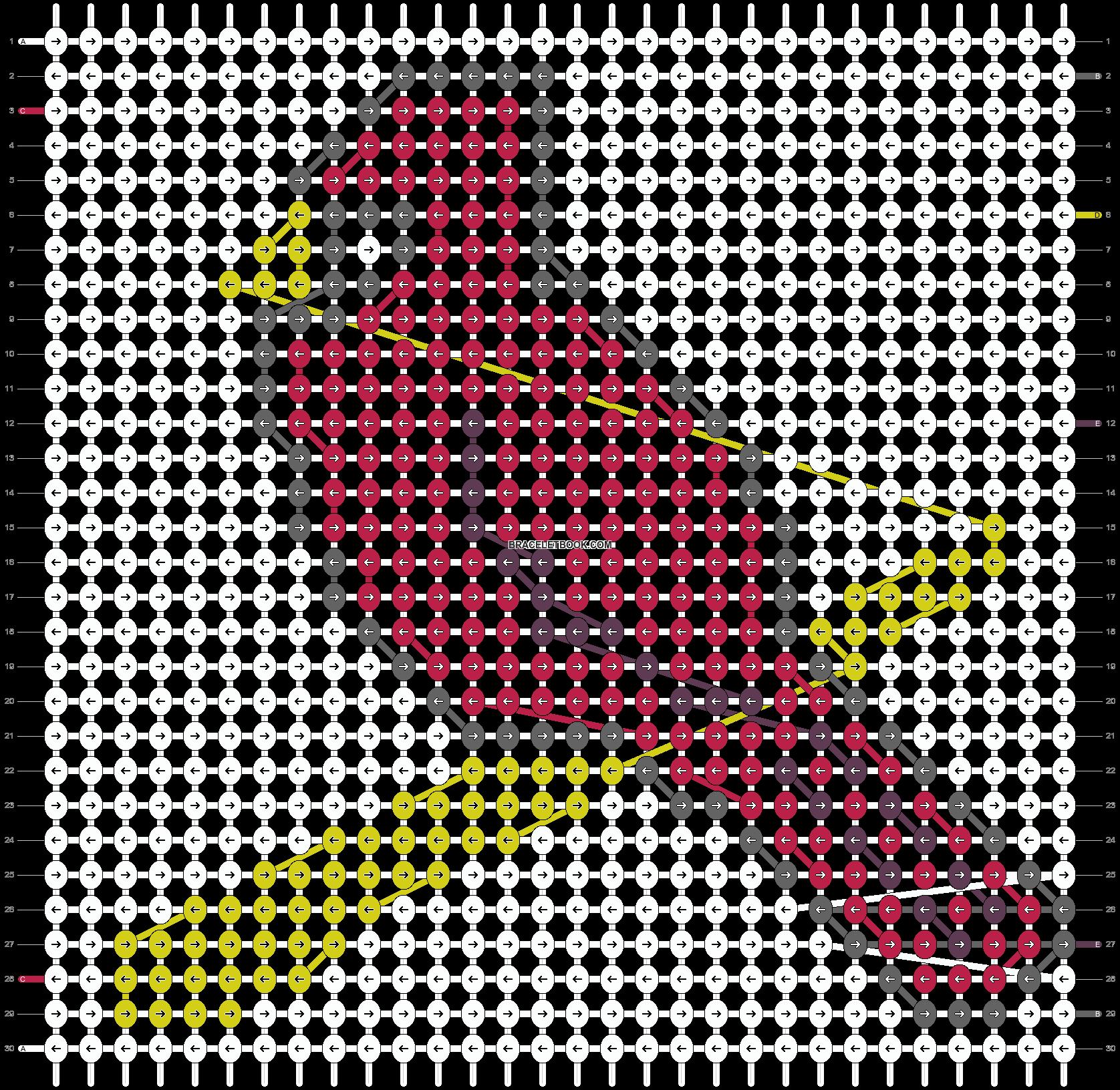 Alpha pattern #9560 pattern