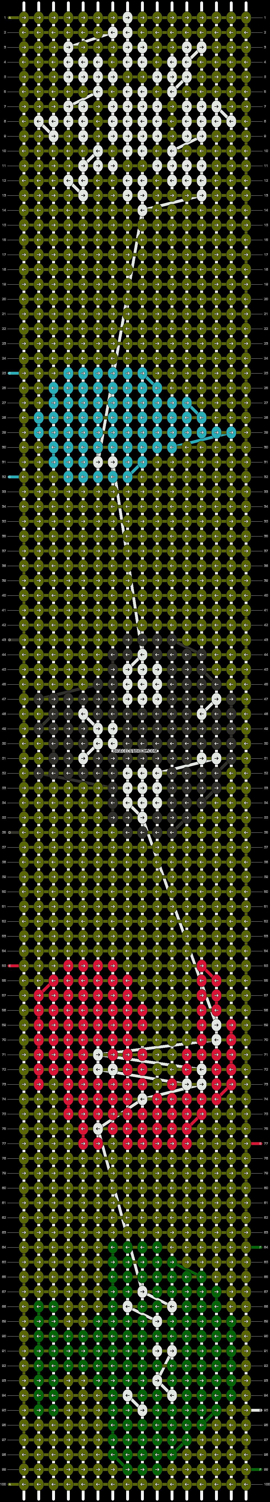 Alpha pattern #9566 pattern