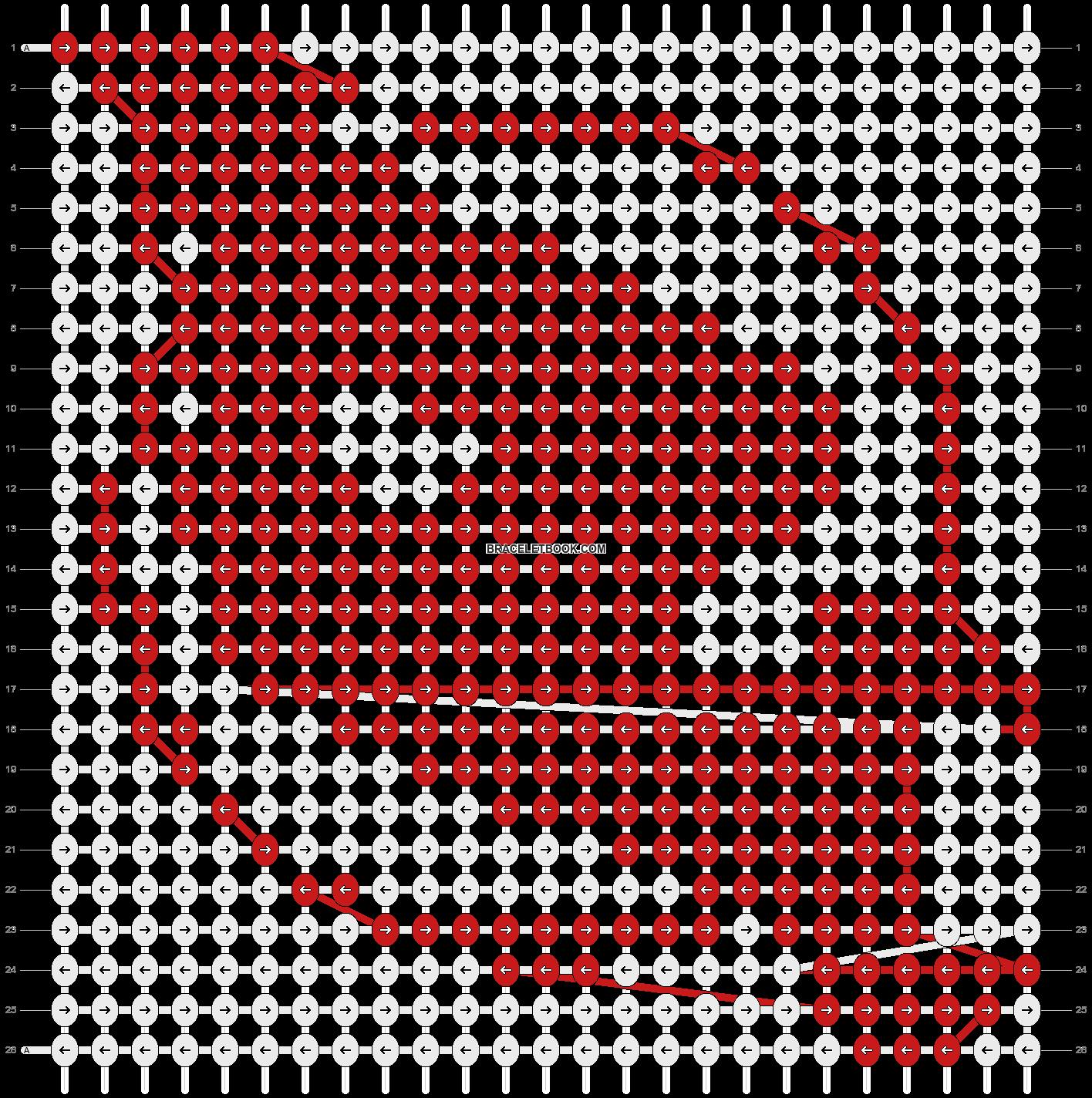 Alpha pattern #9574 pattern