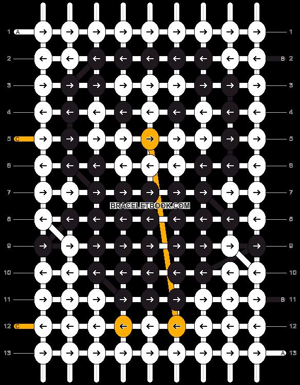 Alpha pattern #9608 pattern