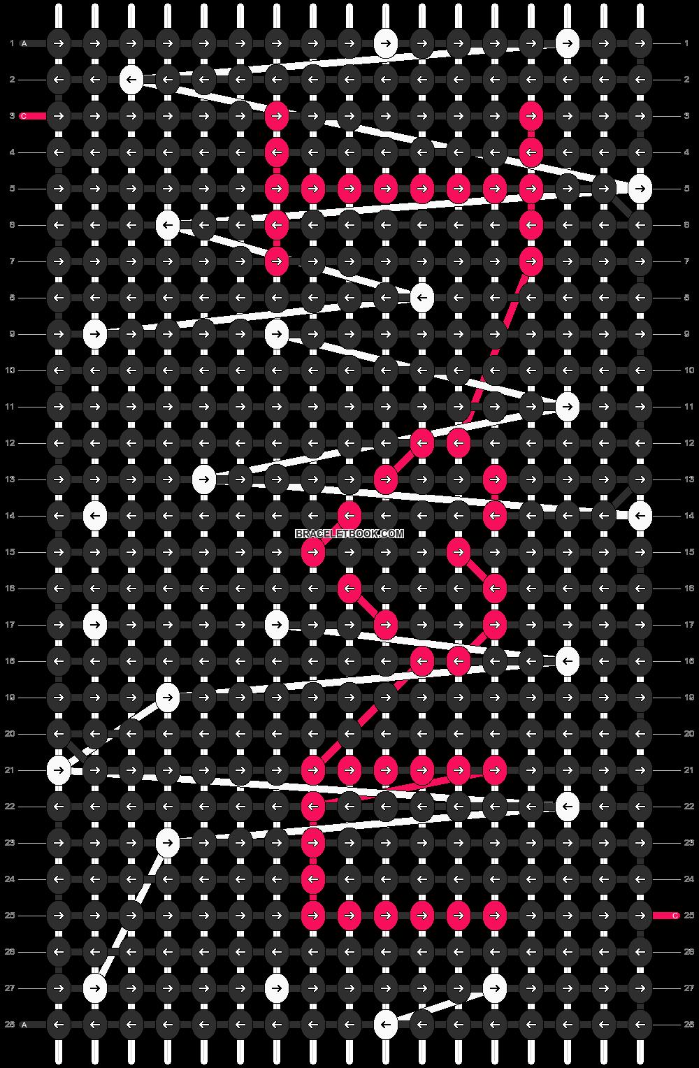 Alpha pattern #9664 pattern