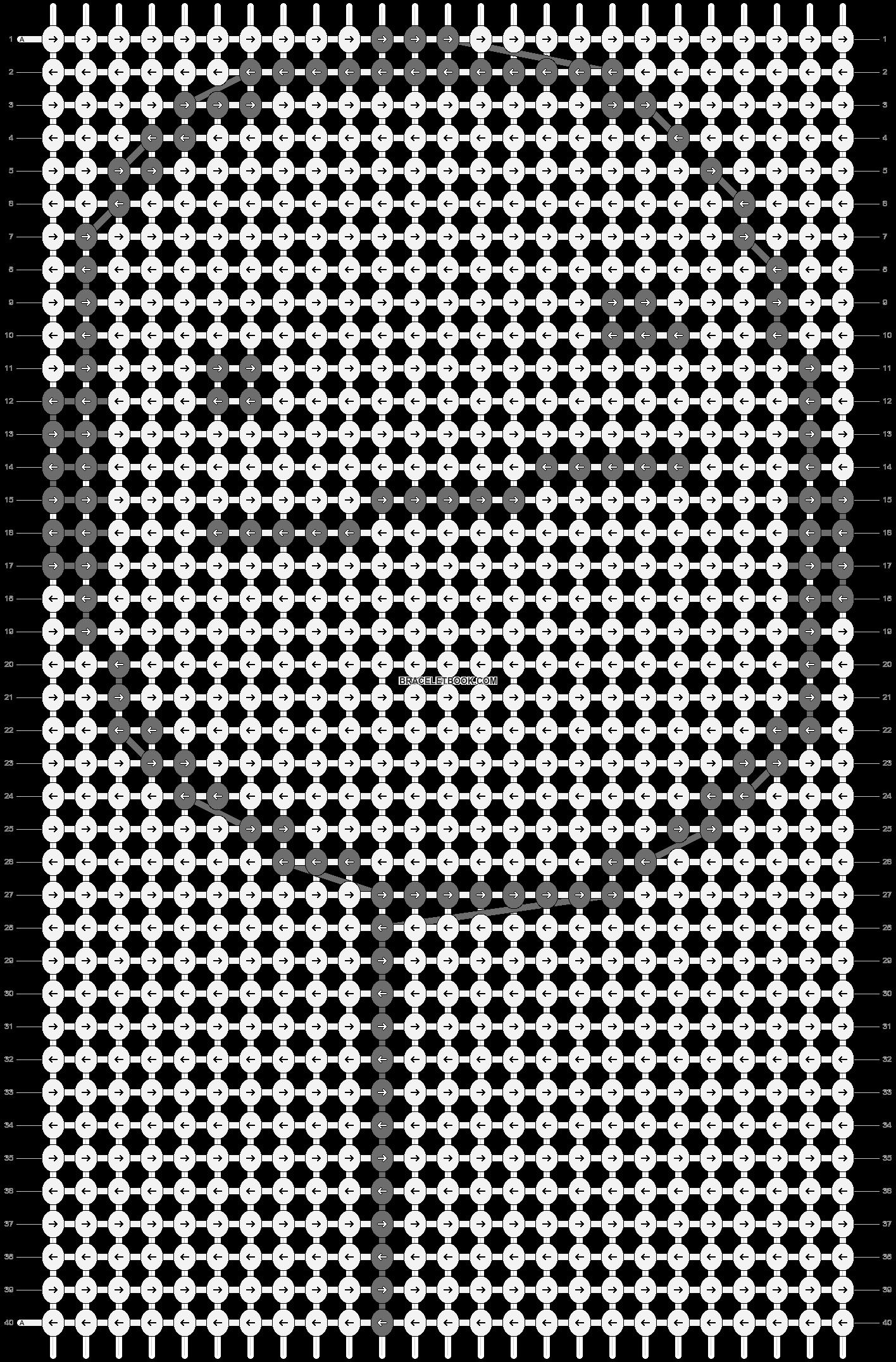 Alpha pattern #9673 pattern