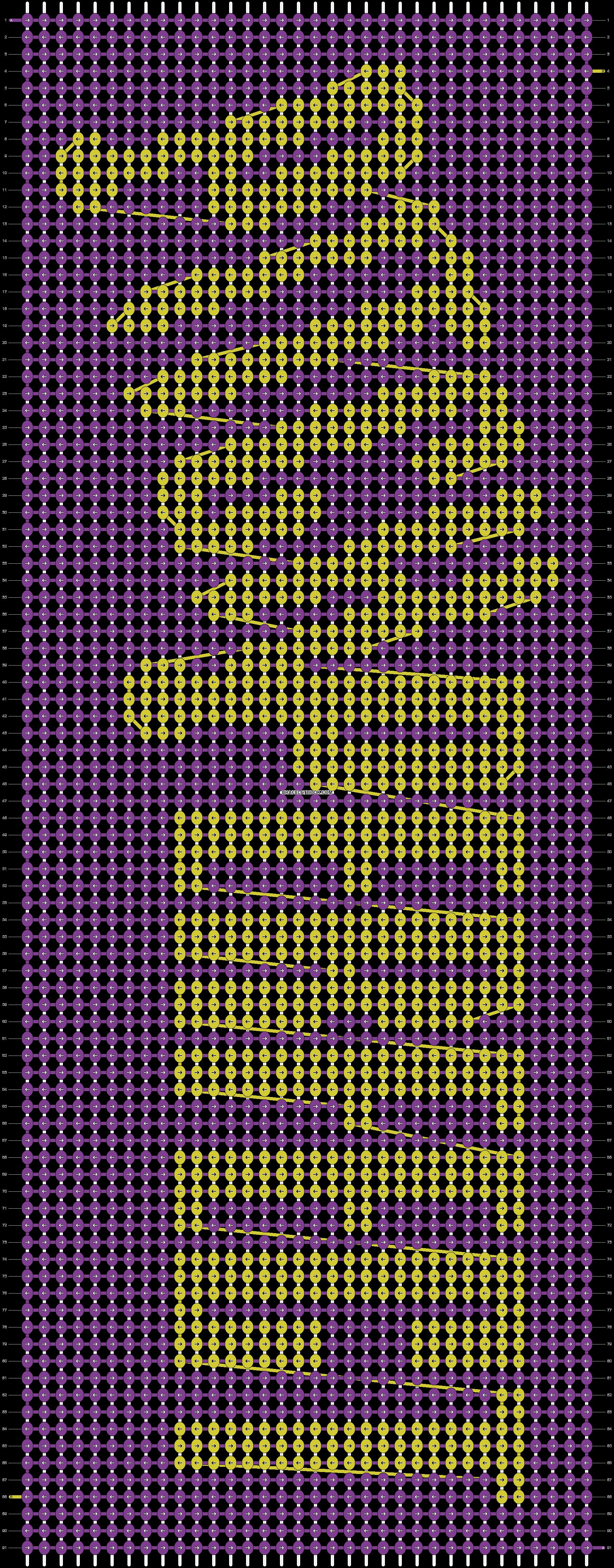 Alpha pattern #9748 pattern