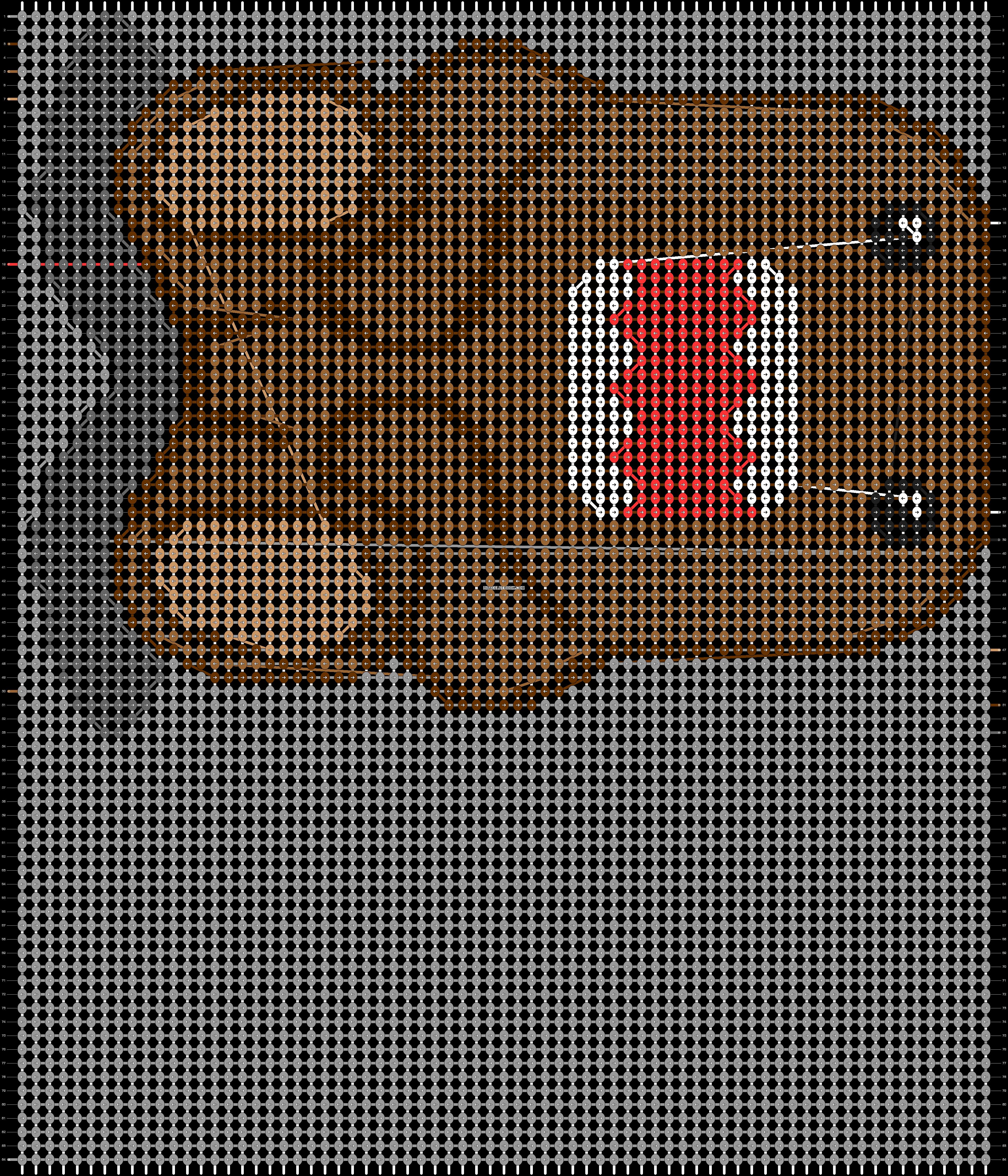 Alpha pattern #9766 pattern
