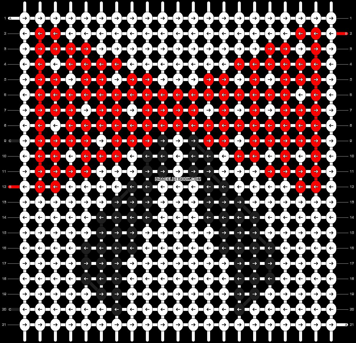 Alpha pattern #9799 pattern