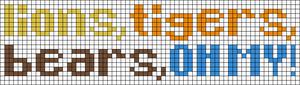 Alpha Friendship Bracelet Pattern #9801