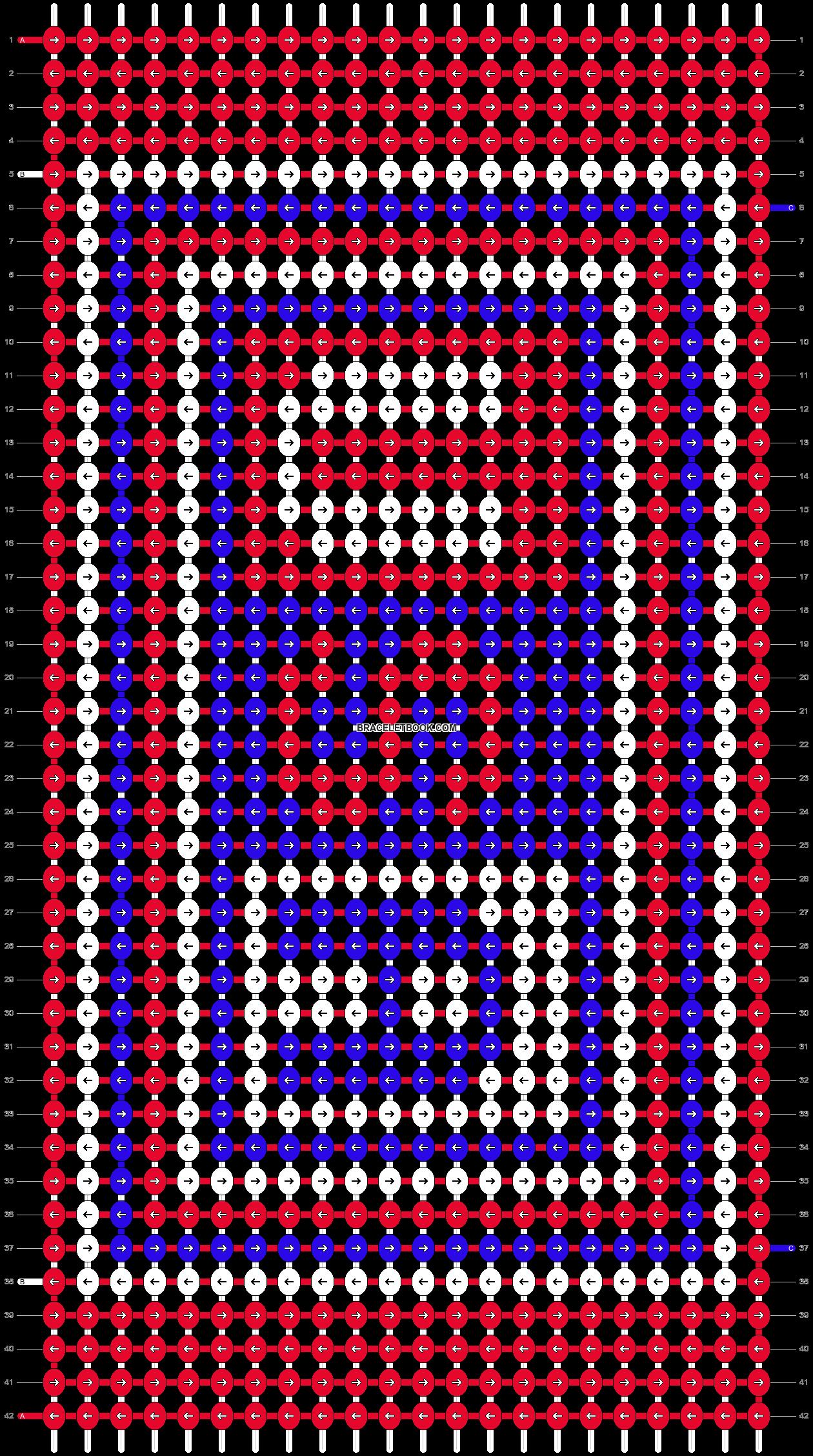 Alpha pattern #9820 pattern