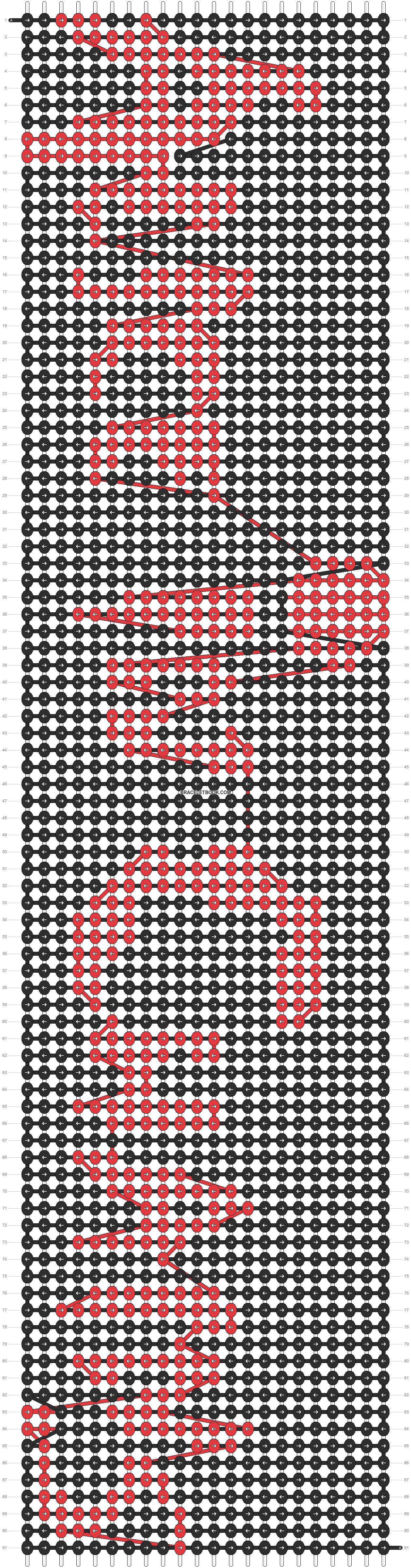 Alpha pattern #9826 pattern