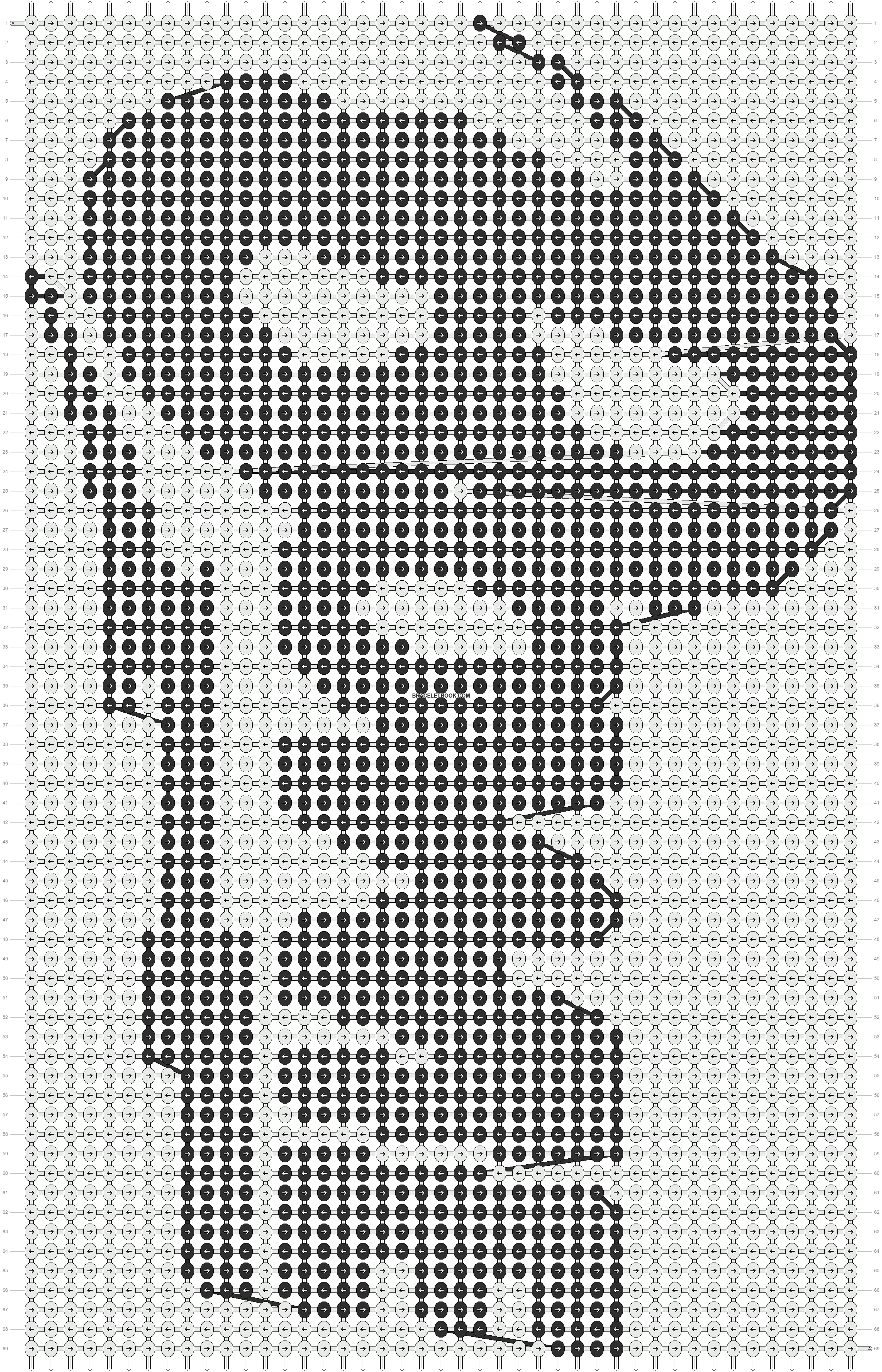 Alpha pattern #9828 pattern