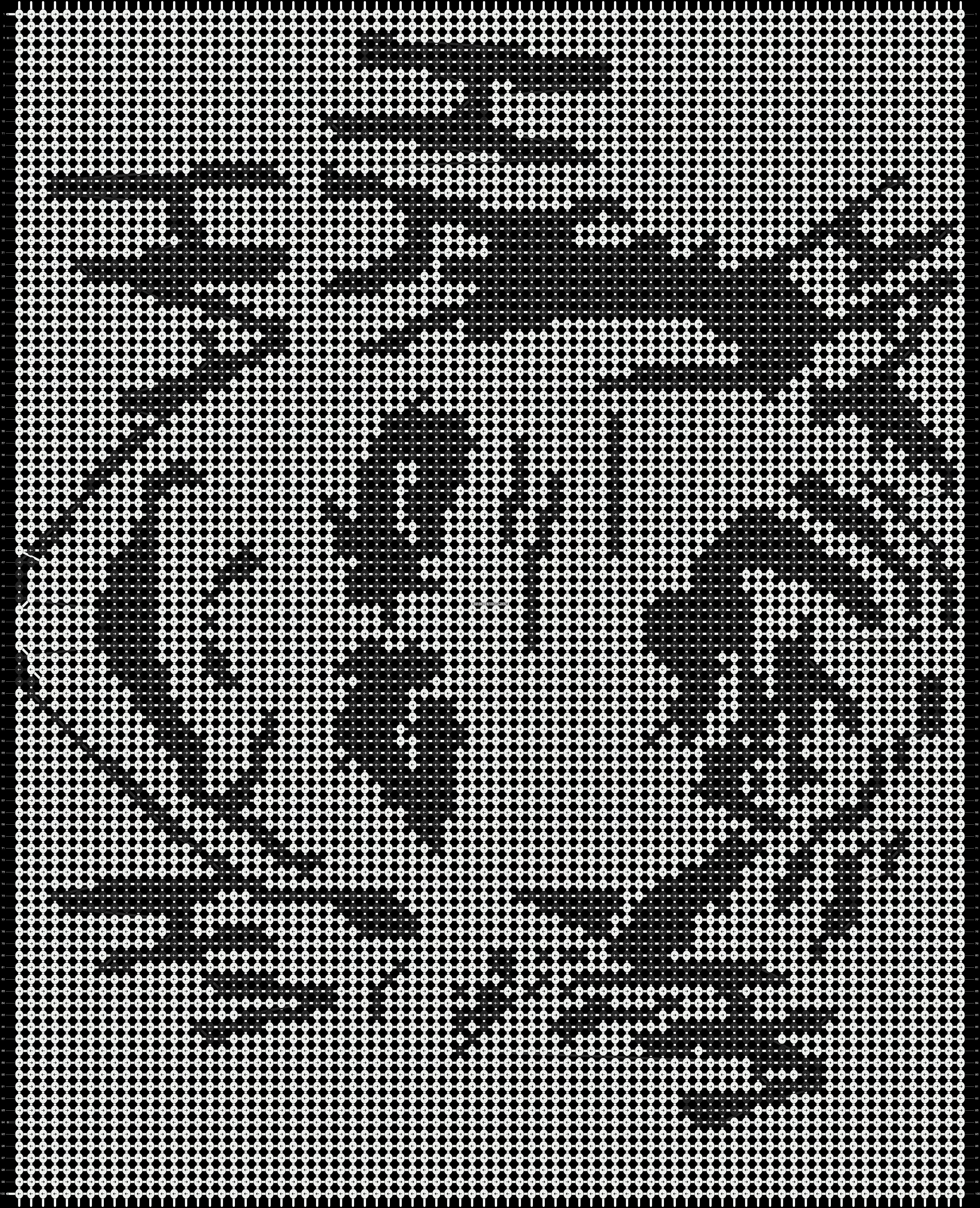 Alpha pattern #9829 pattern
