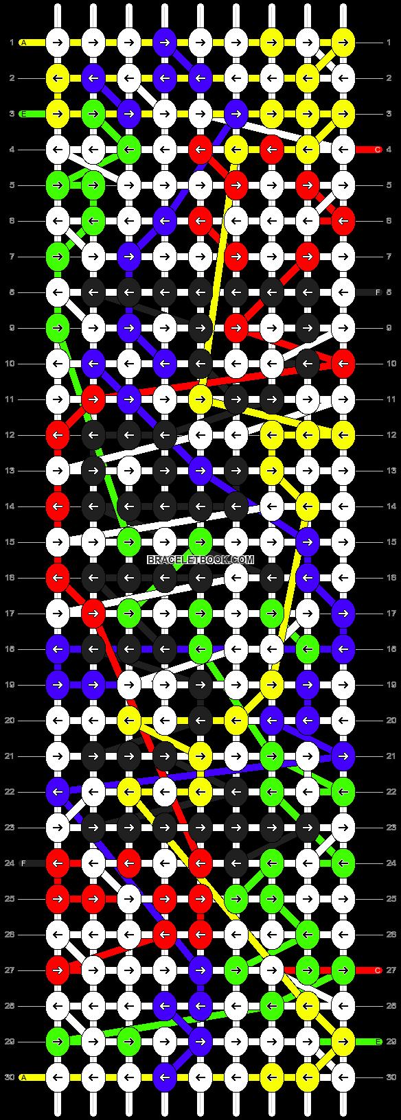 Alpha pattern #9855 pattern