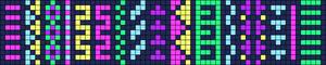 Alpha Friendship Bracelet Pattern #9868