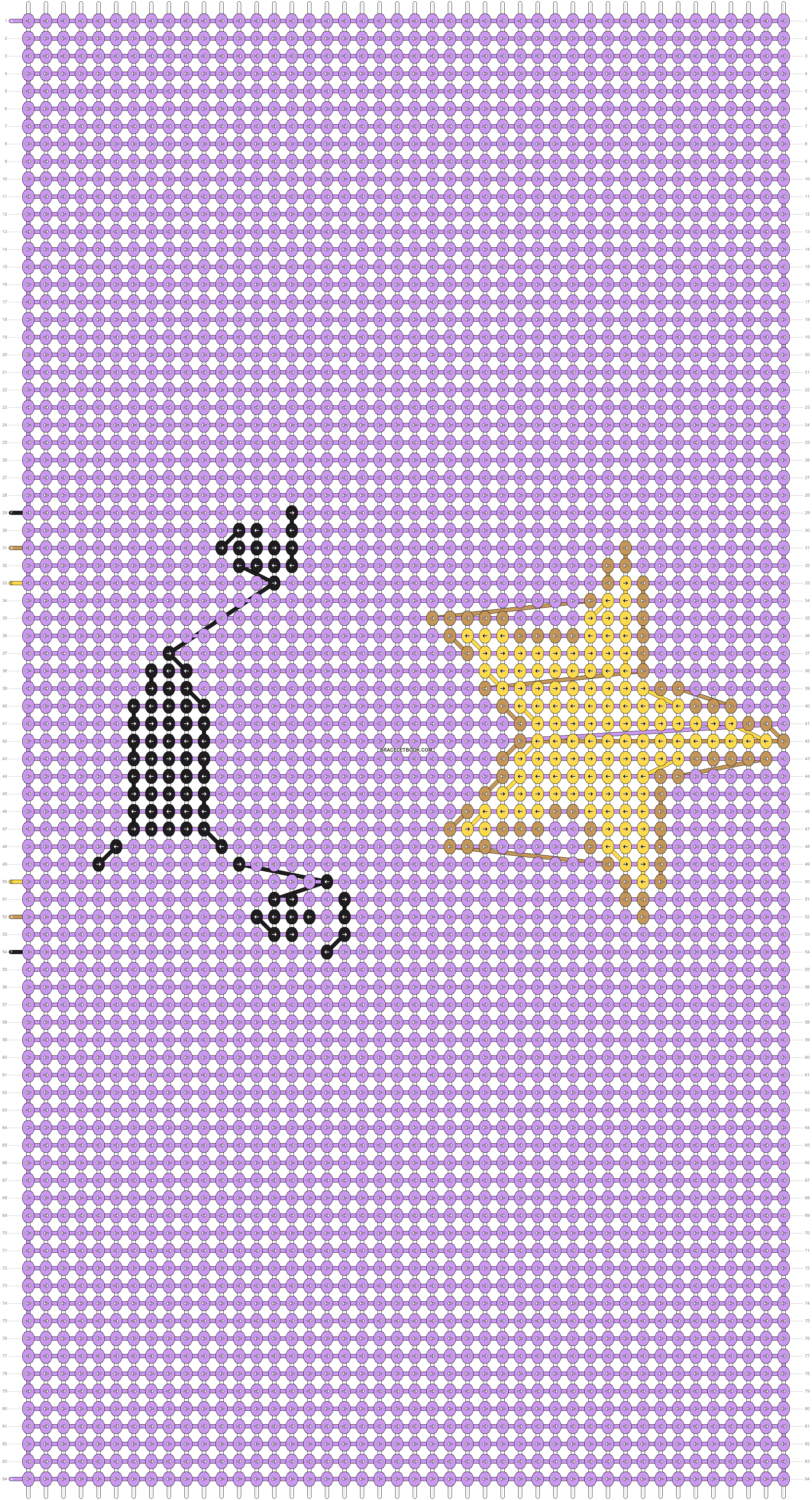 Alpha pattern #9870 pattern