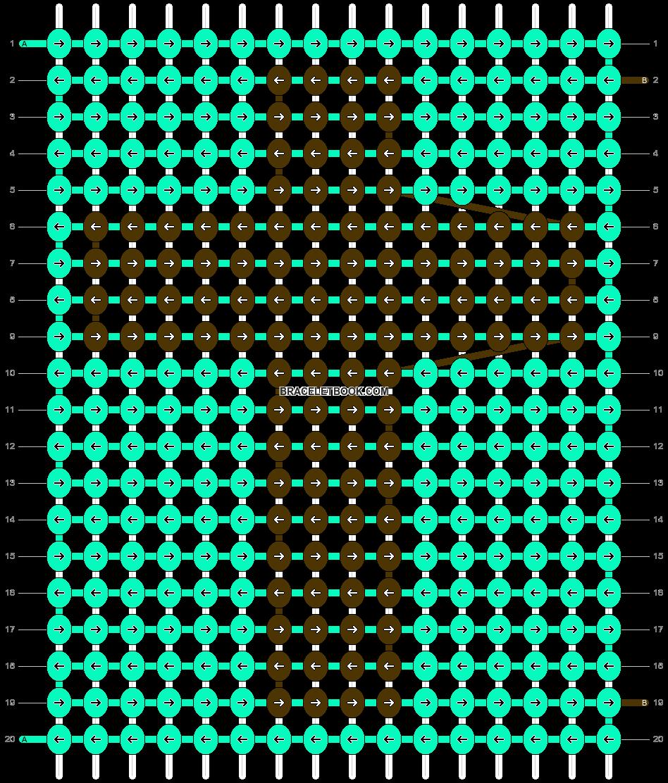 Alpha pattern #9874 pattern
