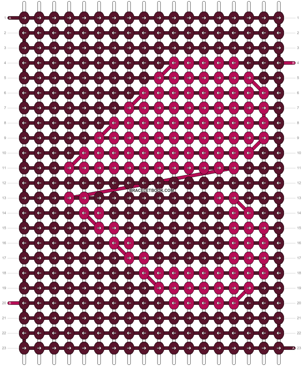 Alpha pattern #9885 pattern