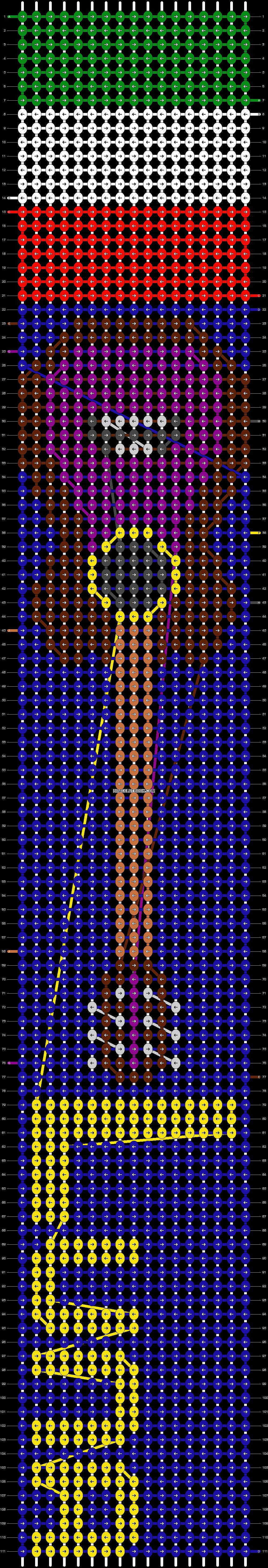 Alpha pattern #9894 pattern