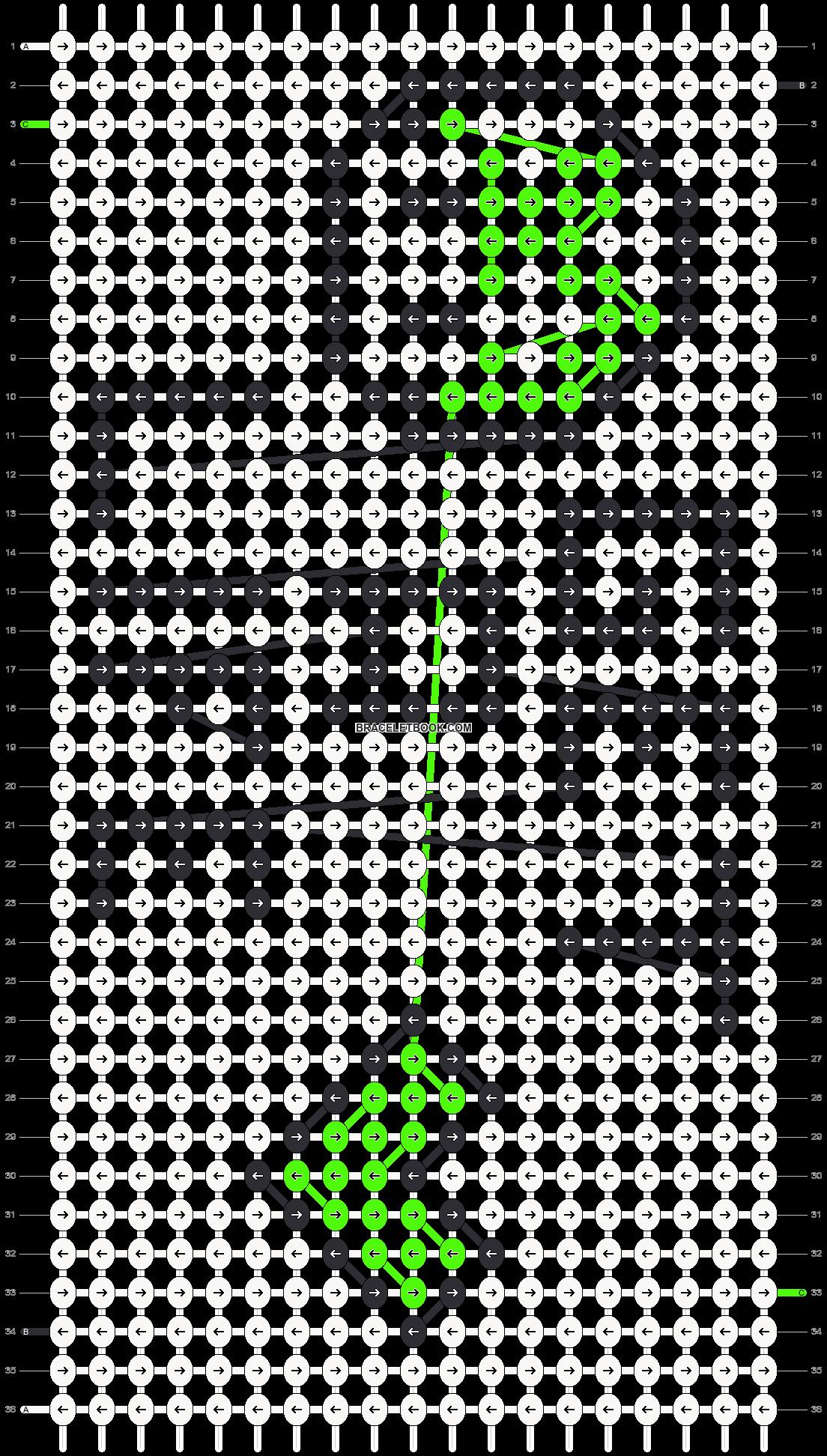 Alpha pattern #9904 pattern