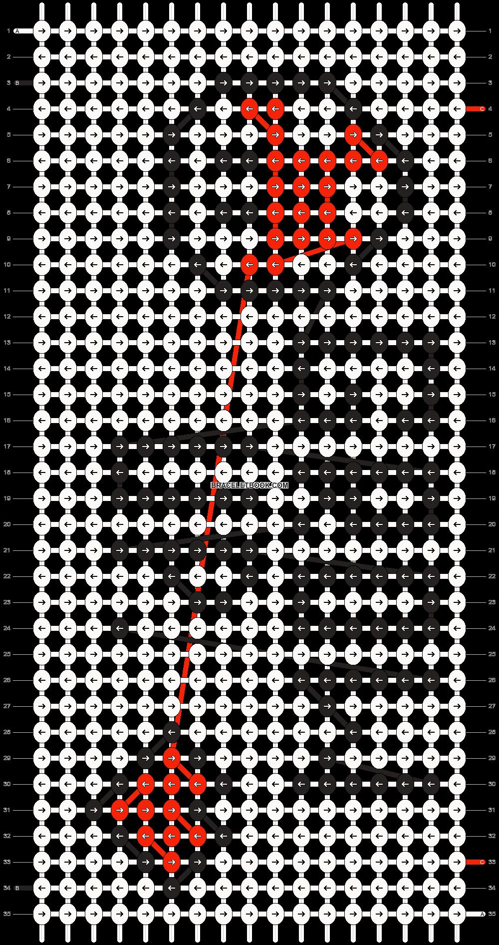 Alpha pattern #9906 pattern