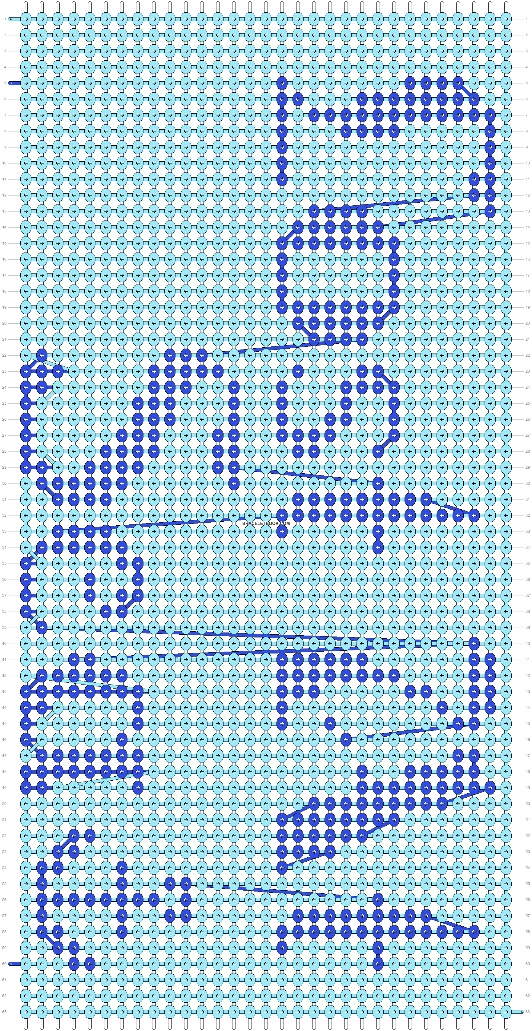 Alpha pattern #9907 pattern