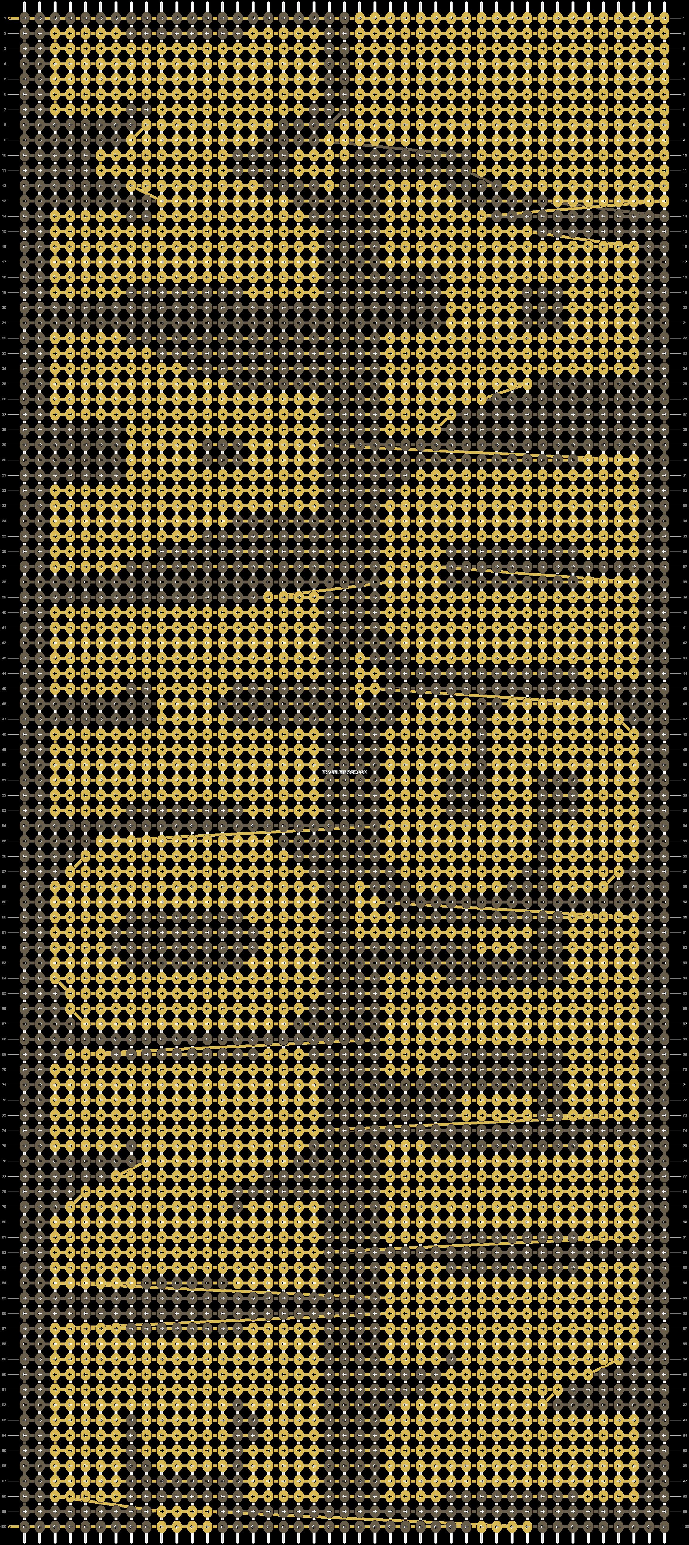 Alpha pattern #9920 pattern