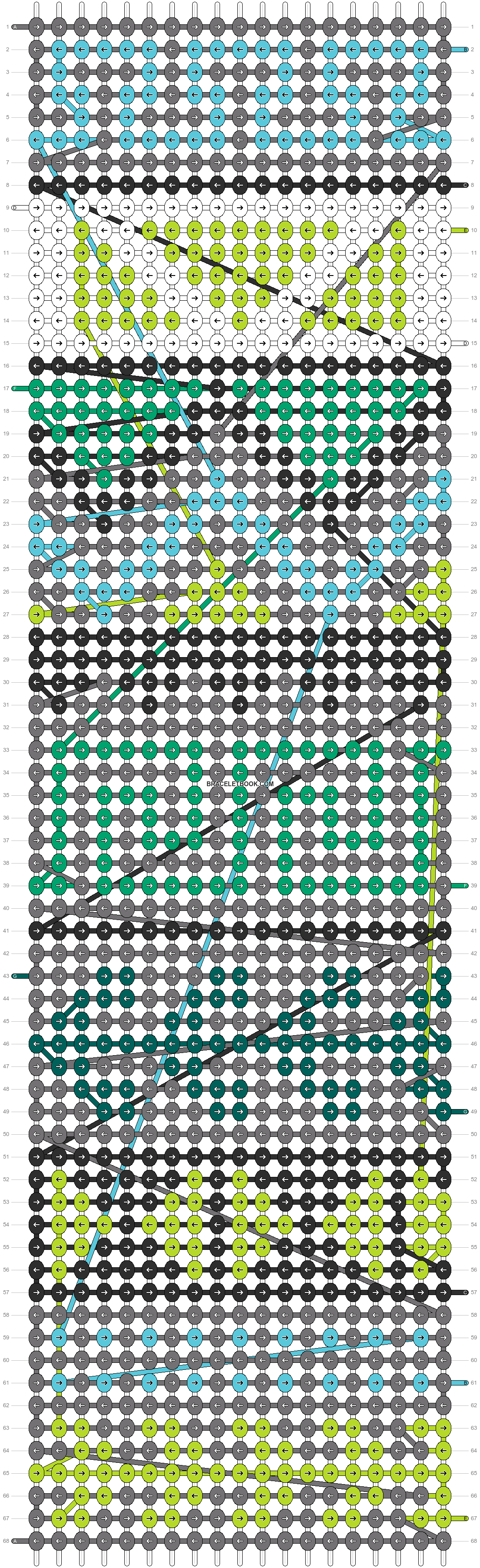 Alpha pattern #9951 pattern