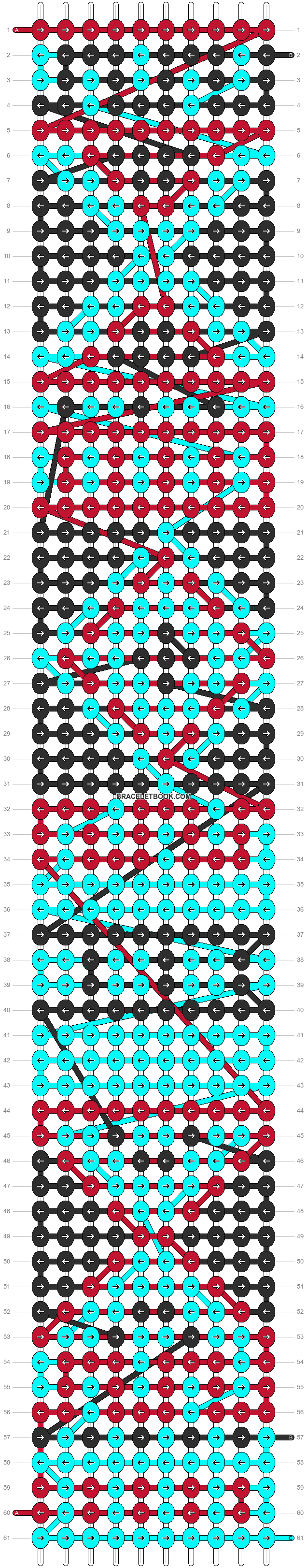 Alpha pattern #9967 pattern