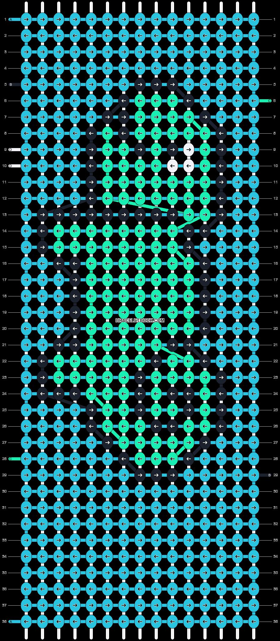 Alpha pattern #9995 pattern