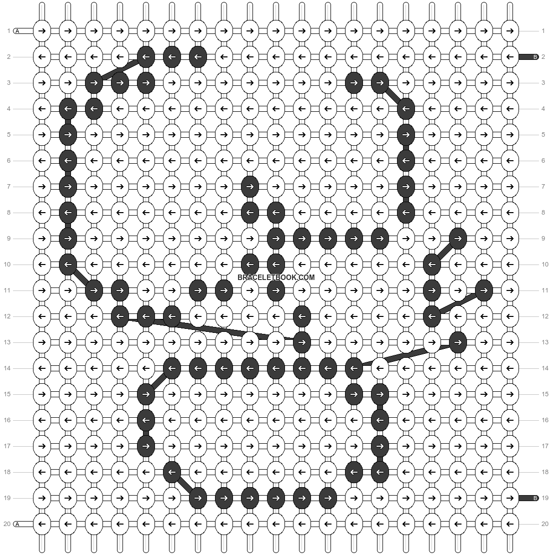 Alpha pattern #10027 pattern