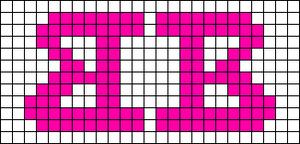 Alpha Friendship Bracelet Pattern #10057