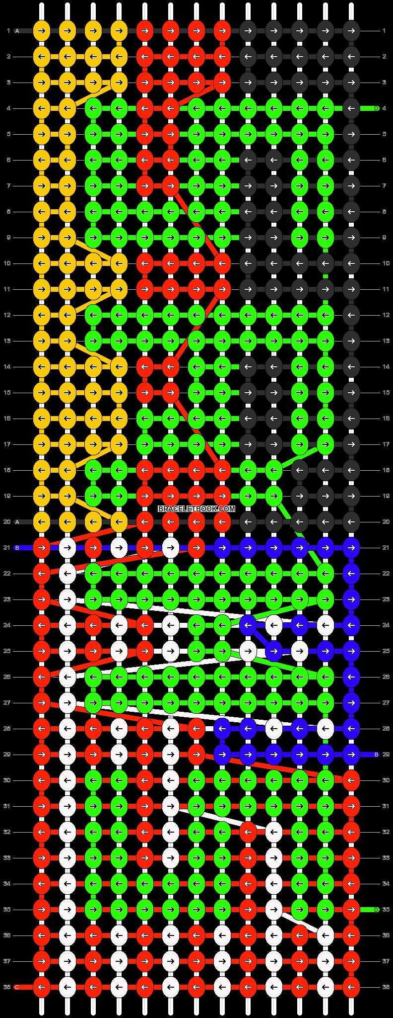 Alpha pattern #10067 pattern