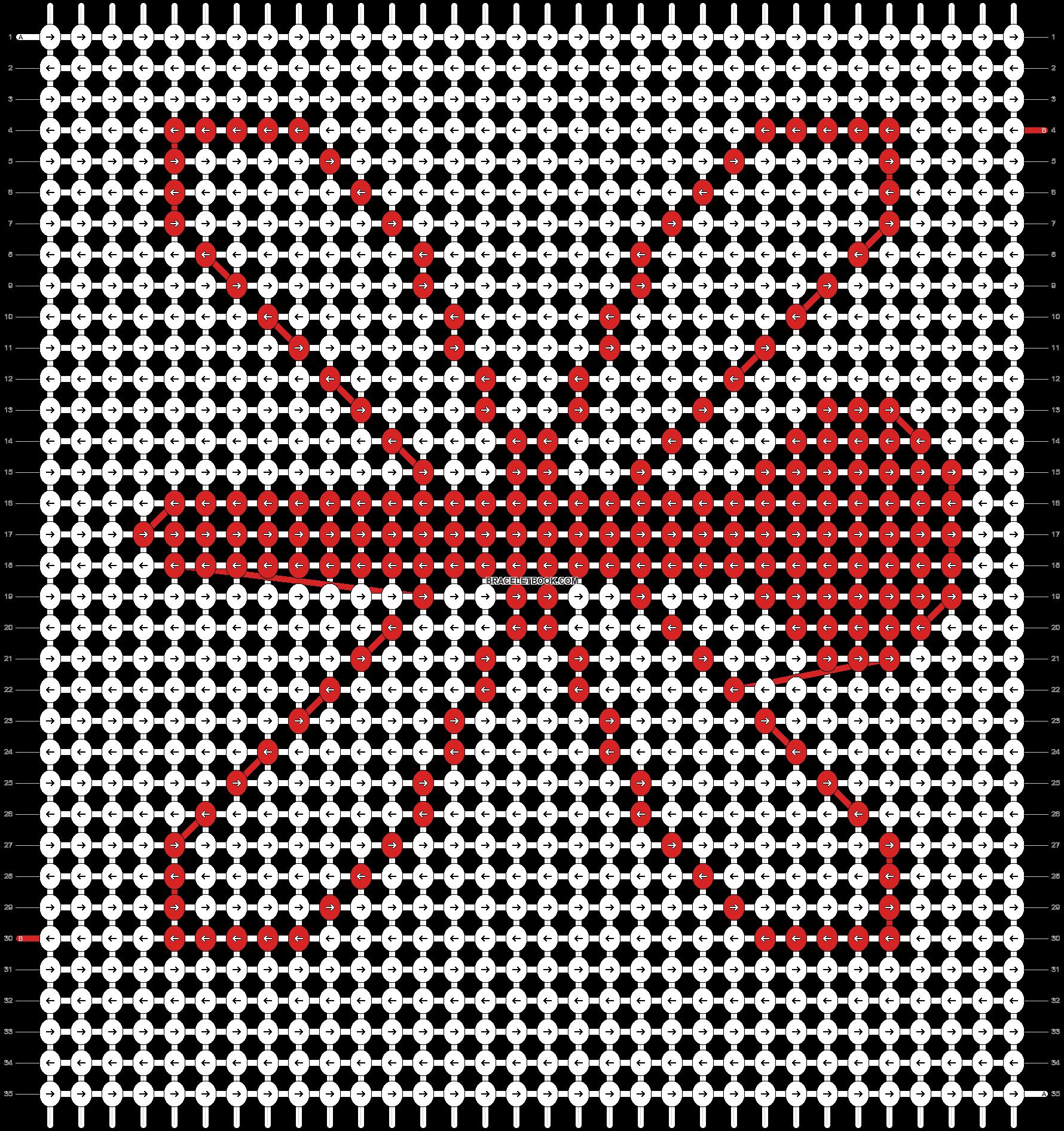 Alpha pattern #10076 pattern