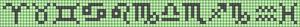 Alpha Friendship Bracelet Pattern #10124