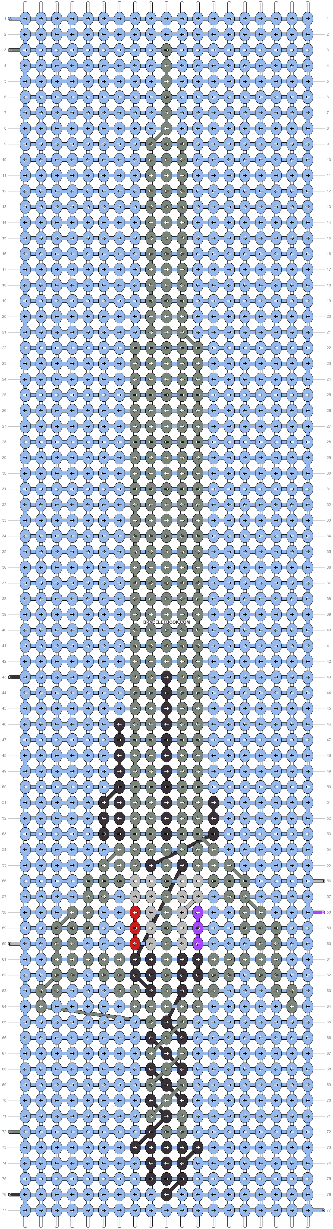 Alpha pattern #10156 pattern