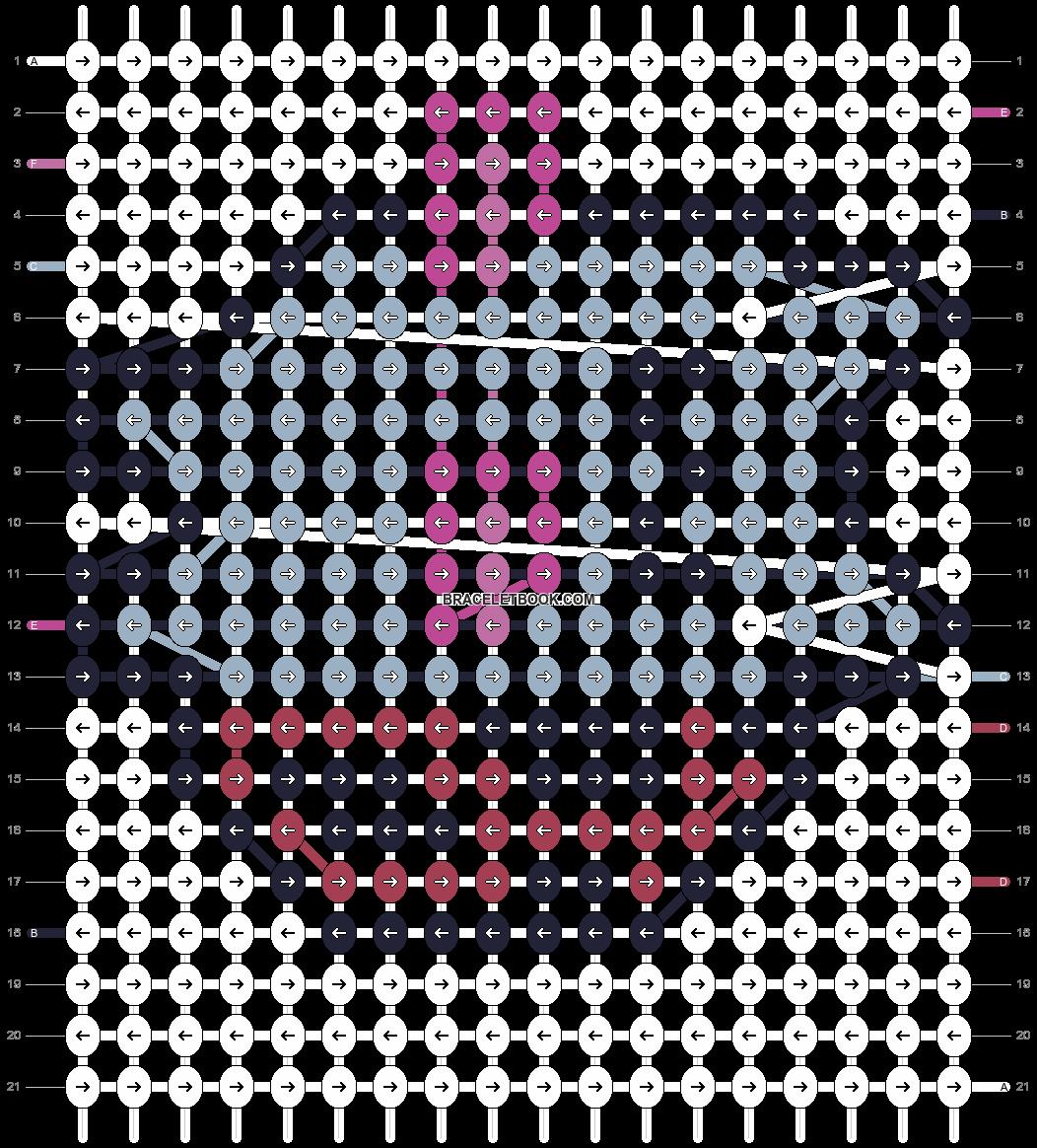 Alpha pattern #10206 pattern