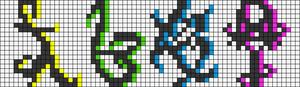 Alpha Friendship Bracelet Pattern #10342