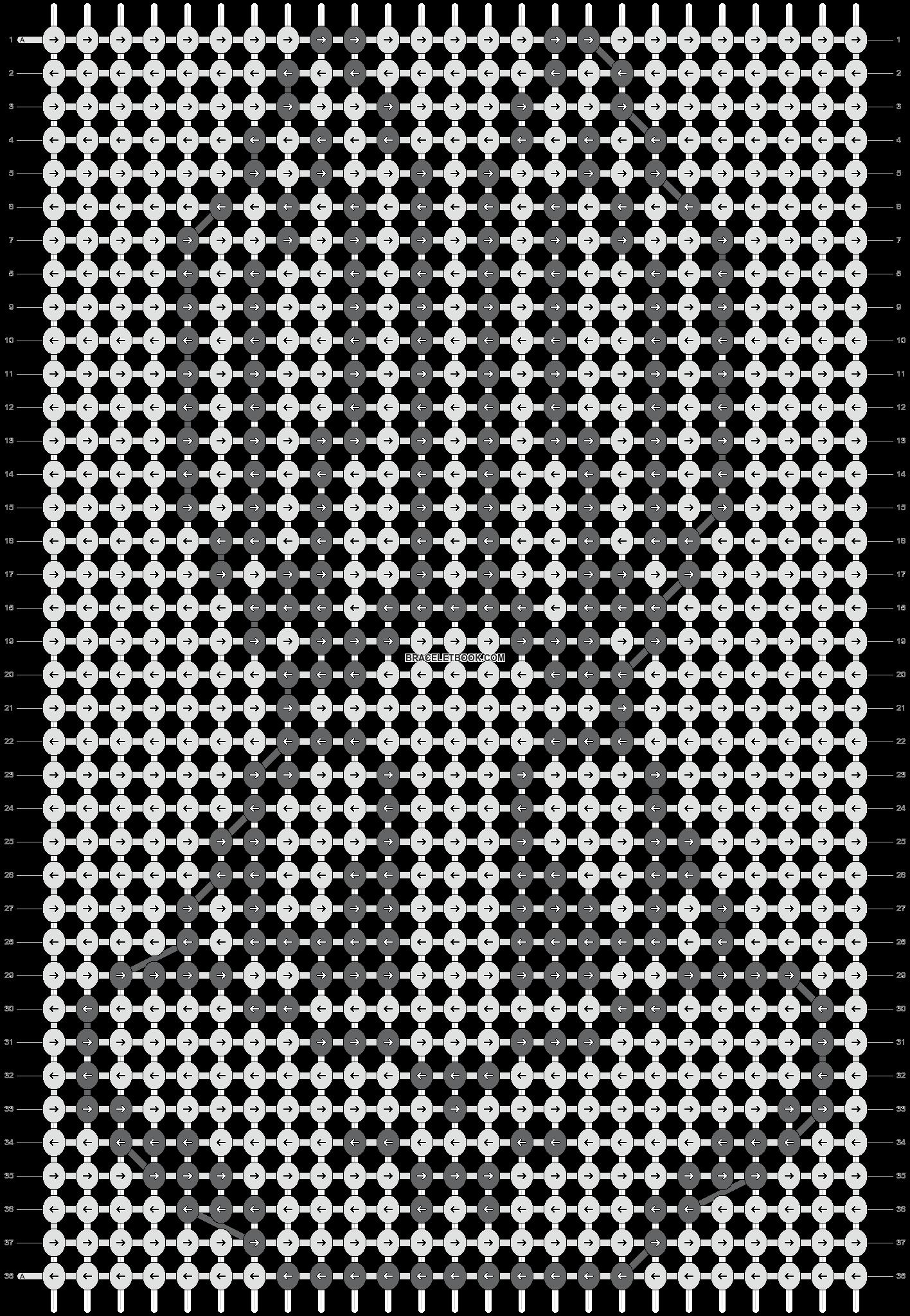 Alpha pattern #10504 pattern