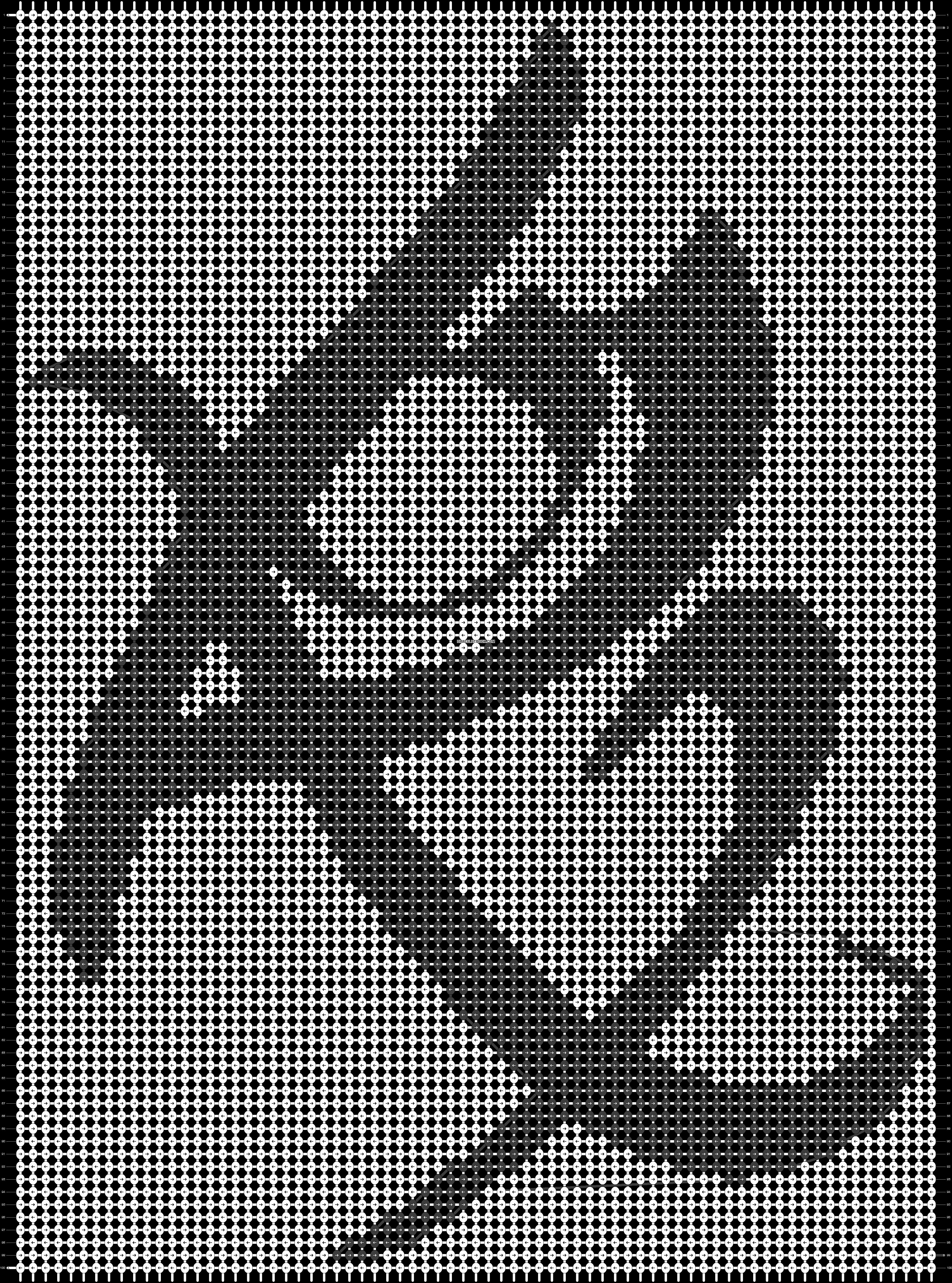 Alpha pattern #10561 pattern