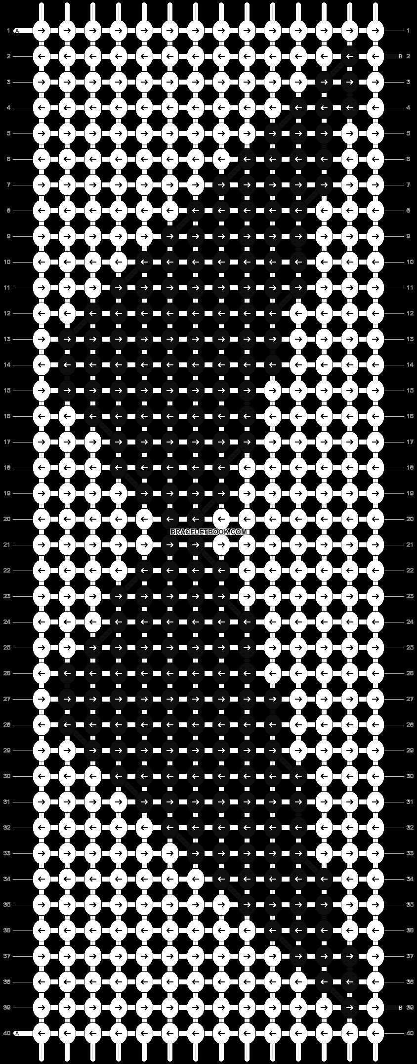 Alpha pattern #10640 pattern
