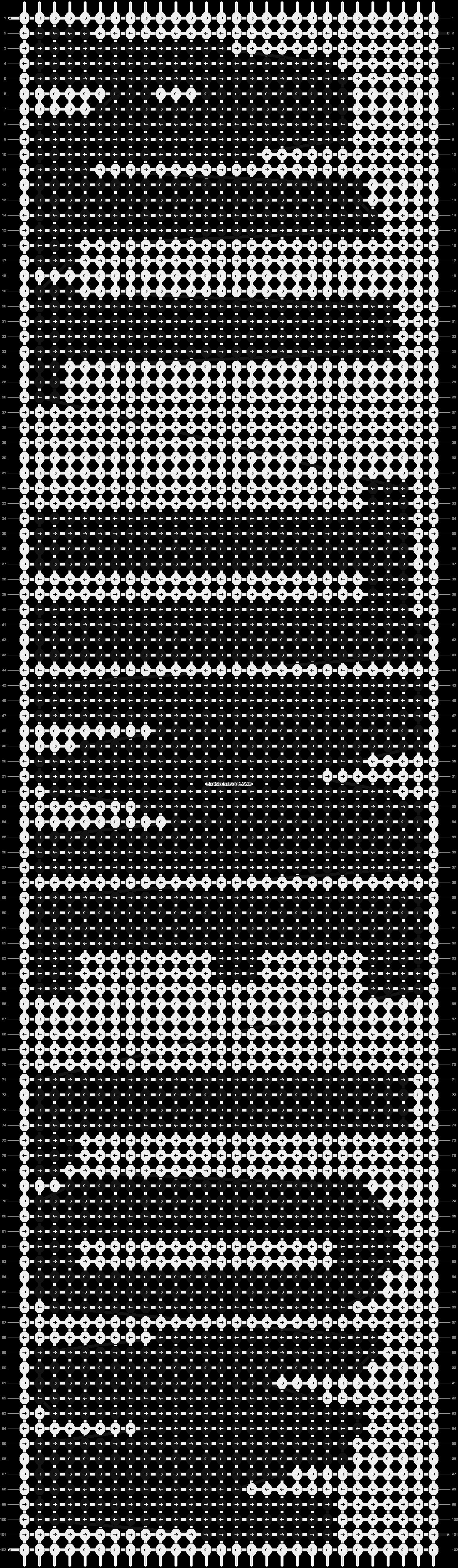 Alpha pattern #10667 pattern