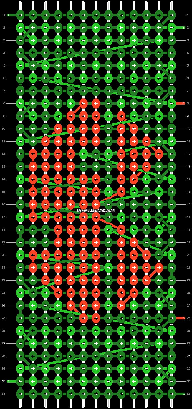 Alpha pattern #10675 pattern