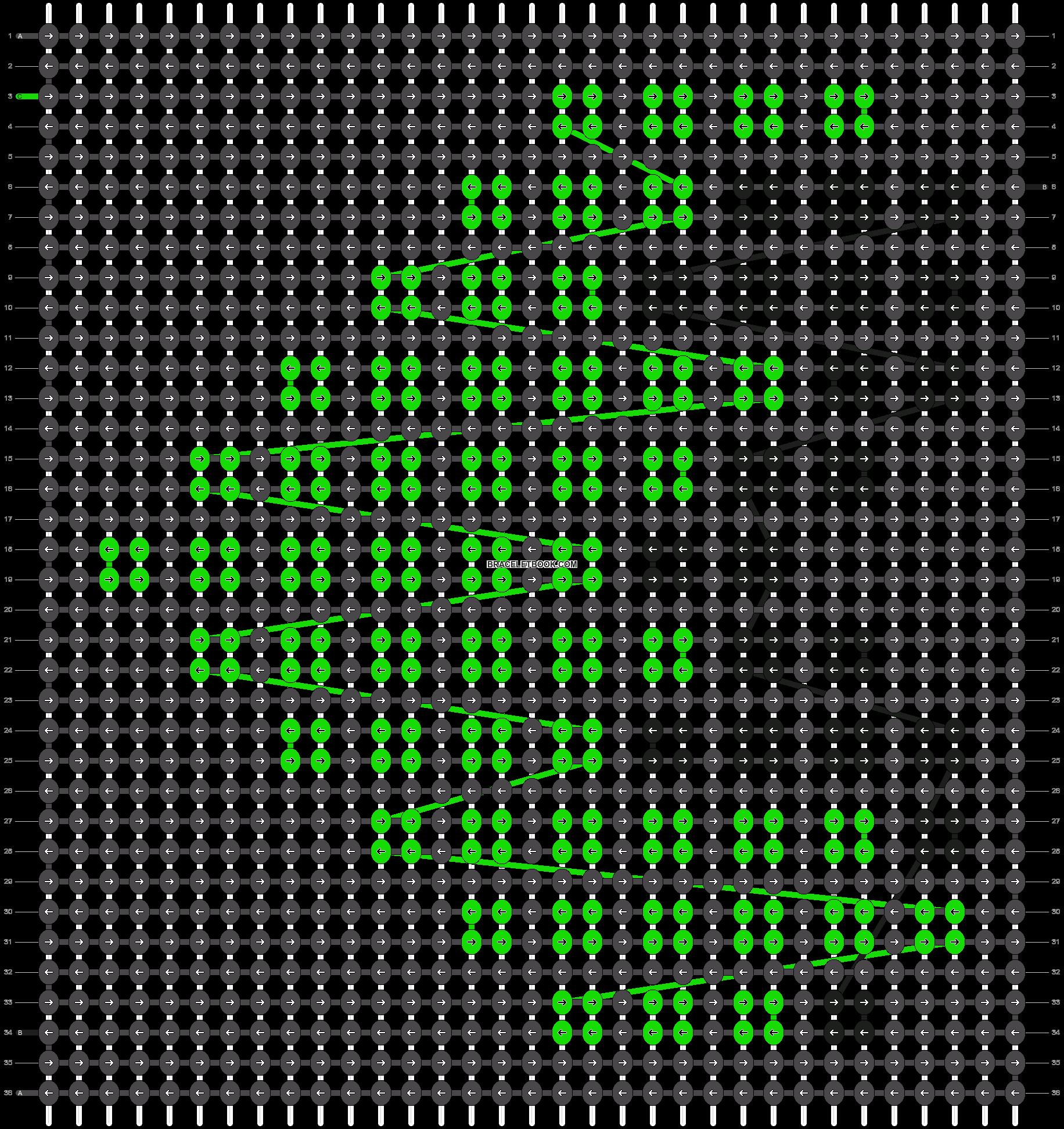 Alpha pattern #10717 pattern